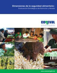 Dimensiones de la seguridad alimentaria : - Coneval