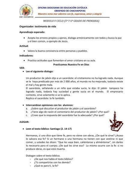 Modulo V Ciclo 5º Y 6º Grado De Primaria Oficina