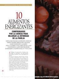 ALIMENTOS ENERGIZANTES - BuenaSalud