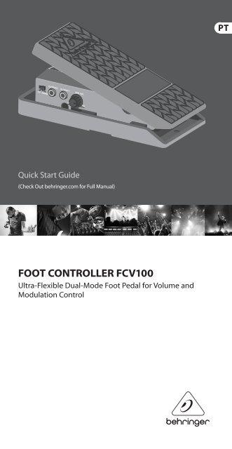 FOOT CONTROLLER FCV100 - Behringer