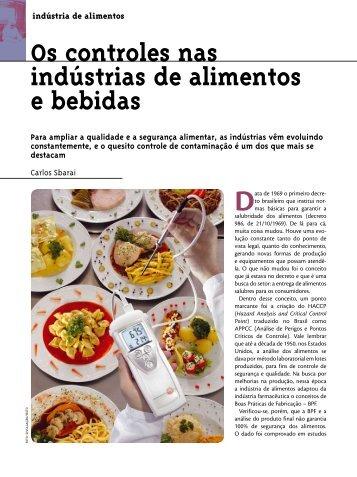 Os controles nas indústrias de alimentos e bebidas - SBCC