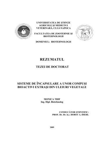 teza de doctorat thesis Rezumat teza doctorat lbengleza - free download as pdf file (pdf), text file (txt) the starting point in developing the doctoral thesis was the study of projection algorithms for solving convex feasibility problem menezes de sequeira, brand o, albuquerque.