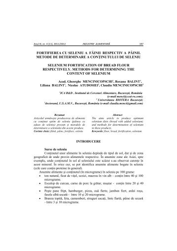 INDUSTRIE ALIMENTARA SI SECURITATEA ... - Agro Buletin AGIR