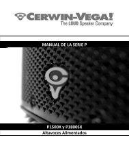 MANUAL DE LA SERIE P P1500X y P1800SX Altavoces Alimentados