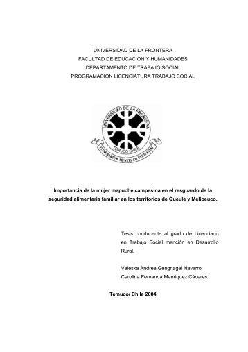 universidad de la frontera facultad de educación y humanidades ...