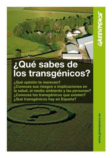 ¿Qué sabes de los transgénicos? - Greenpeace