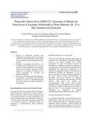 Protocolo Clínico de la ABM #22 - The Academy of Breastfeeding ...