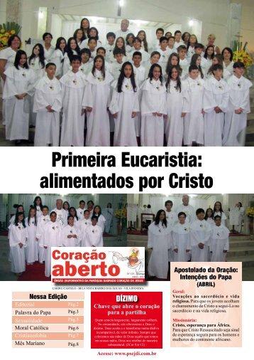 Primeira Eucaristia: alimentados por Cristo - Pscjdi.com.br