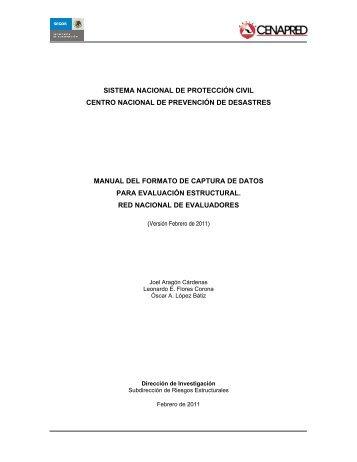 Manual del Formato para Captura de Datos para Evaluación ...