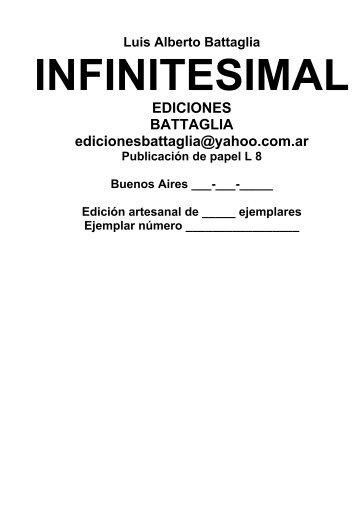 INFINITESIMAL - Biblioteca Virtual Battaletras