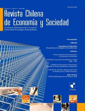Revista Chilena de Economía y Sociedad - Vicerrectoría de ...
