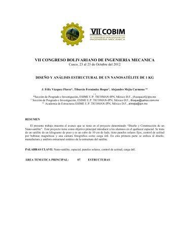 VII CONGRESO BOLIVARIANO DE INGENIERIA MECANICA