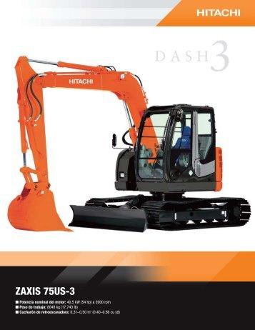 ZAXIS 75US-3 - Hitachi