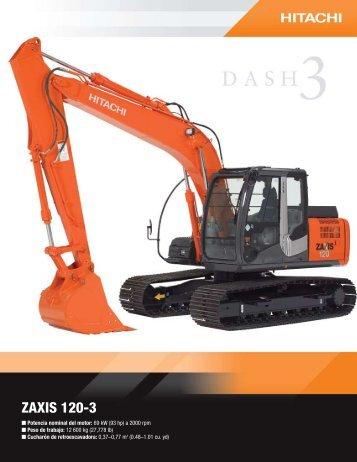 ZAXIS 120-3 - Distribuidora Nissan SA