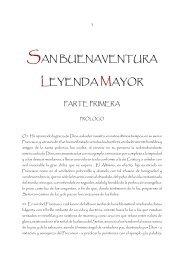 SAN BUENAVENTURA LEYENDA MAYOR - Franciscanos TOR