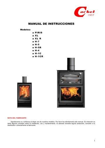 instrucciones para el usuario de la estufa eléctrica
