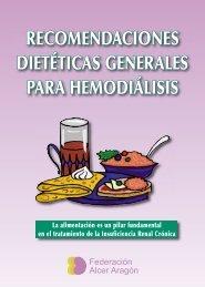 recomendaciones dietéticas generales para hemodiálisis - ALCER