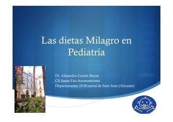 CHARLA Dr. Alejandro Canals Baeza Dietas Milagro en Pediatría ...