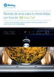 Recetas de arroz para tu horno Balay con función