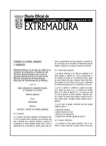el doe en microfichas - Diario Oficial de Extremadura