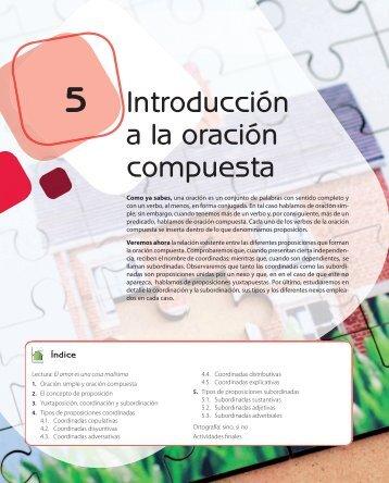 Oraciones compuestas subordinadas for Introduccion a la gastronomia pdf