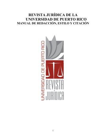 Manual de Redacción, Estilo y Citación - Revista Jurídica de la ...