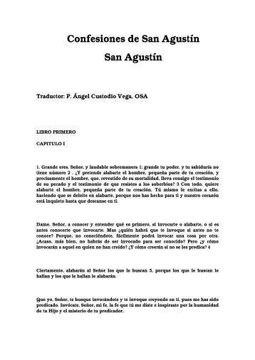 Confesiones de San Agustín San Agustín - Inicio