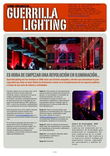 How To_spanish - Guerrilla Lighting
