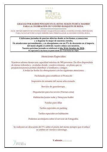 dossier bodas y jornadas 2010 - Hoteles SILKEN