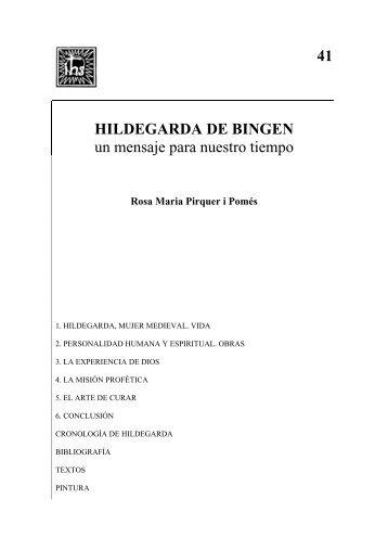41 HILDEGARDA DE BINGEN un mensaje para nuestro tiempo