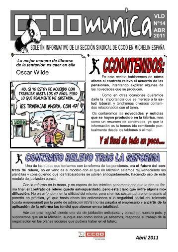 ccoomunica nº14 - Sección Sindical de Michelin