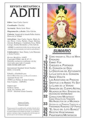 Revista ADITI Nº II-17 Feb.2005 - JUAN CARLOS GARCIA