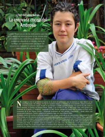 Carolina Bazán Edición 52 - Chef & Hotel