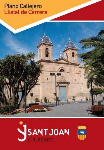 Plano Callejero - Ajuntament de Sant Joan d'Alacant