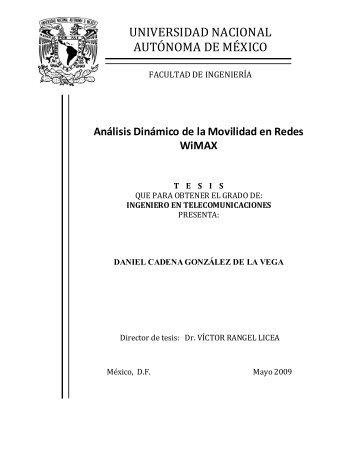 Análisis Dinámico de la Movilidad en Redes WiMAX - Páginas ...
