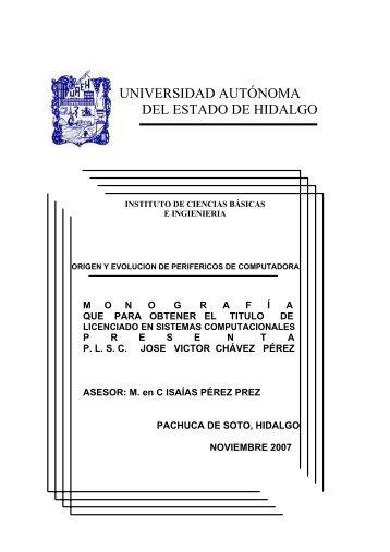 Origen y evolución de periféricos de computadora - Universidad ...