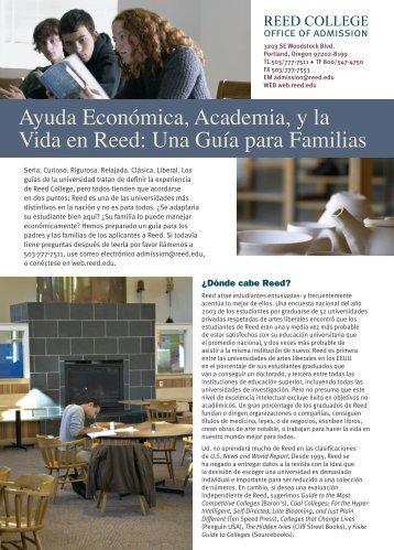 Ayuda Económica, Academia, y la Vida en Reed ... - Reed College