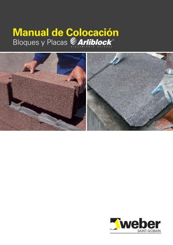 Weber Manual de colocacion bloques y placas Arlibl..., páginas 1-16