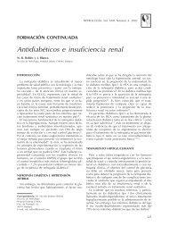 Antidiabéticos e insuficiencia renal - Nefrología