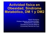 Ejercicio en obesidad, SM, Diabetes 1 y 2 - Hospital Privado