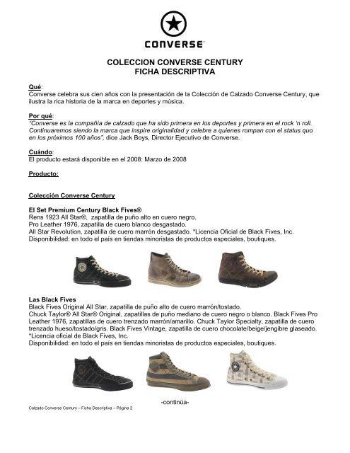 8873d8e7e48 Calzado Converse Century