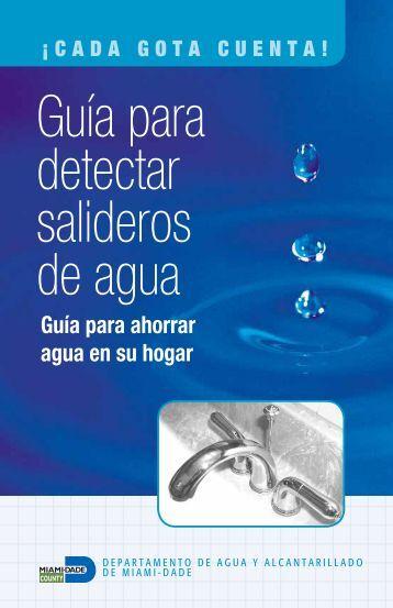 Guía para detectar salideros de agua - Miami-Dade Portal