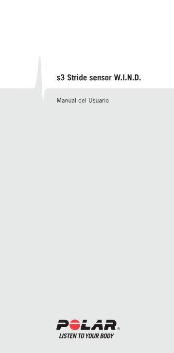 Manual del Usuario s3 stride sensor W.I.N.D. - Polar