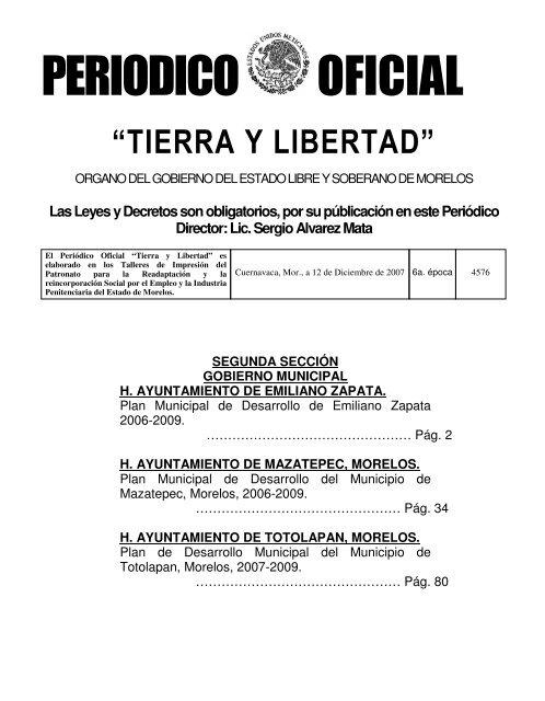 4576 2a Sección Periódico Oficial Gobierno Del Estado De