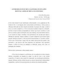 as performances de trova galponeira em situações distintas - ENAP ...