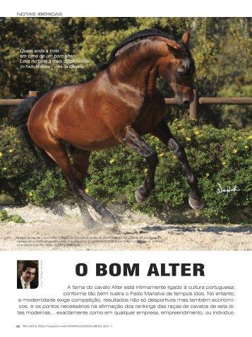 O bOm Alter - Revista Equitação