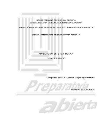 Guía de Estudio de Música - Secretaria de Educación Pública Baja ...