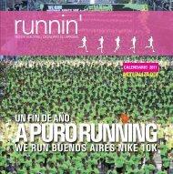 revista bimestral / calendario de carreras - Runnin