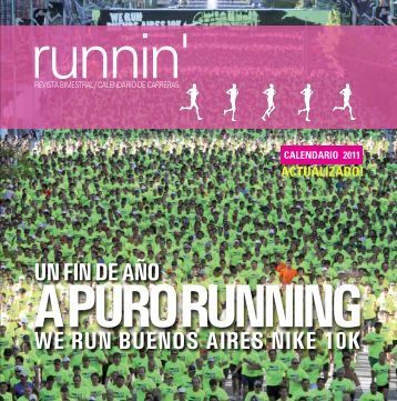 revista bimestral / calendario de carreras - Runnin