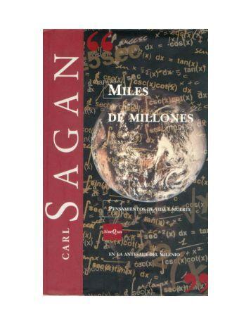 Carl Sagan - Miles de Millones